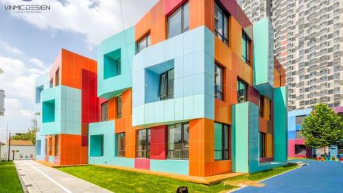 Thiết kế trường mầm non tại Bắc Giang, Thiết kế bởi Vinmic Việt Nam