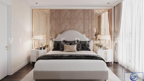 Các mẫu thiết kế nội thất phòng ngủ tân cổ điển đẹp