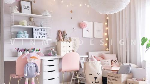 Tổng hợp thiết kế nội thất phòng ngủ bé gái không thể bỏ qua