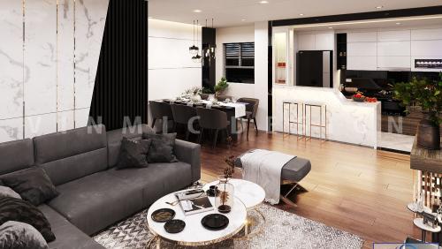 Thiết kế nội thất căn hộ chung cư Seasons Avenue