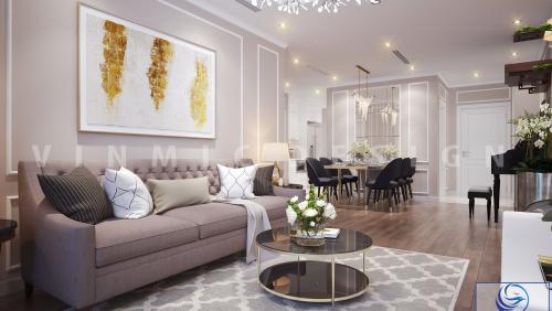 Thiết kế nội thất căn hộ chung cư Vinhomes Green Bay