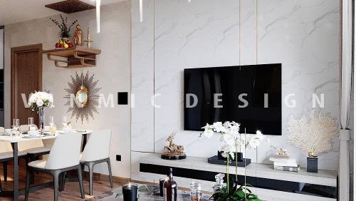 Thiết kế nội thất căn hộ chung cư Vinhomes Green Bay Mễ Trì