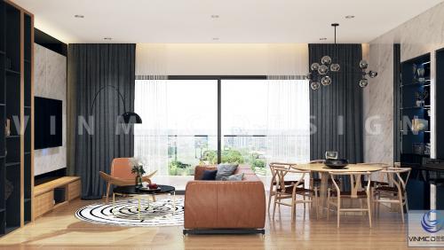 Thiết kế nội thất chung cư Ngoại Giao Đoàn Hà Nội