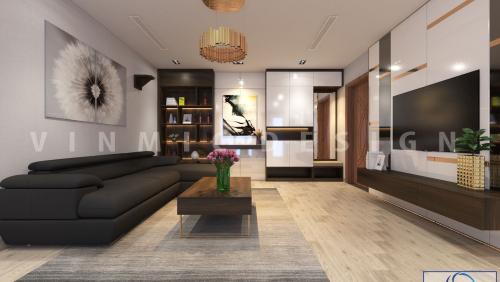 Thiết kế nội thất chung cư Vinhomes Ocean Park hiện đại