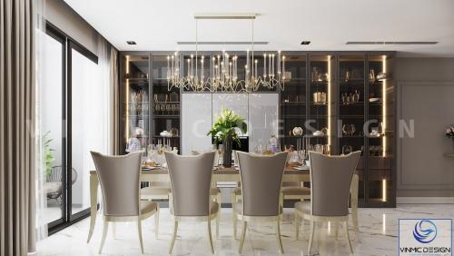 Thiết kế nội thất chung cư tân cổ điển đẹp tại Goldmark City