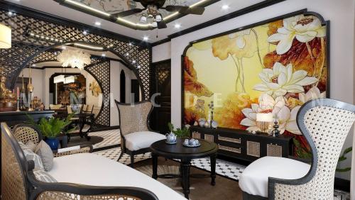 Thiết kế nội thất phong cách Á Đông tại chung cư Sunshine Garden