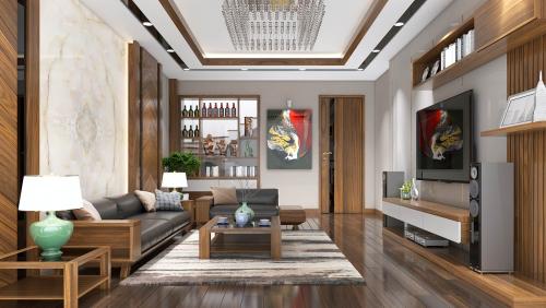 Thiết kế nội thất biệt thự hiện đại tại thành phố Vĩnh Yên