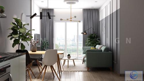 Thiết kế nội thất căn hộ chung cư nhỏ phong cách tối giản