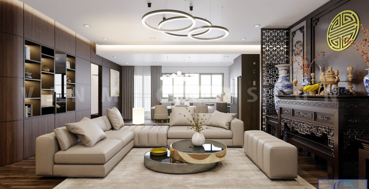 Thiết kế nội thất chung cư hiện đại tại CT1 Bắc Linh Đàm
