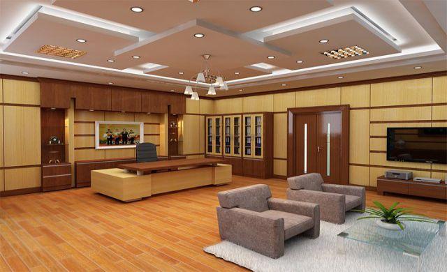 Phòng giám đốc có diện tích rộng được thiết kế đầy đủ tiện nghi
