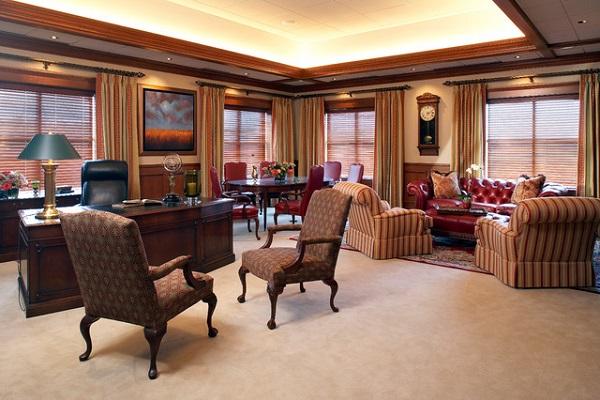 Thiết kế nội thất phòng giám đốc phong cách tân cố điển